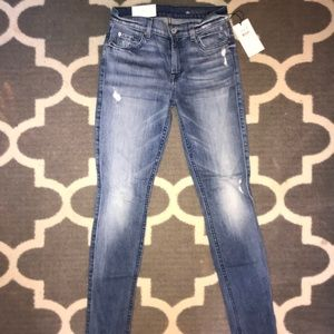 NWT 7 For All Man Kind Skinny Jeans